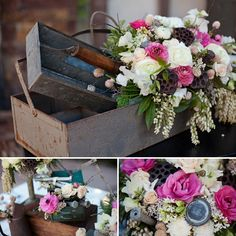 Industrial Romance Themed shoot – gorgeous florals