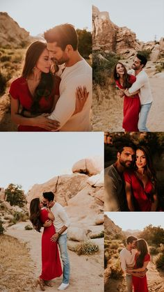 Romantic Joshua Tree Engagement Session Hidden Valley Joshua Tree National Park desert engagement session sunset engagement photos Outfit Inspo for couples photoshoot SoCal engagement session locations Joshua Tree Wedding Photographer
