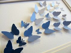 cool way to use paintchips to create wall art for kids room