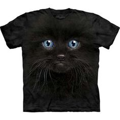 Black Kitten Face T-Shirt Adult now featured on Fab.