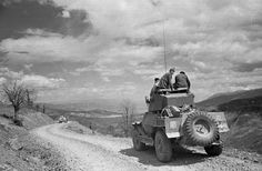 A truck carries a band of government soldiers along a rocky mountain pass during the Greek Civil War. (Photo by Bert Hardy/Picture Post/Getty Images). May 1948 Military Women, Military History, Greek Warrior, Military Branches, Become A Photographer, World War Two, Armed Forces, Rocky Mountains, Civilization