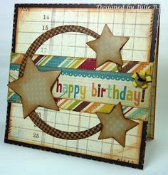Happy Birthday with kraft paper and bright colors