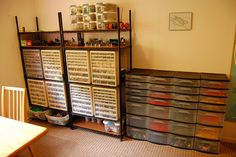 love the idea of this-the drawers/bins but on a much smaller scale. Don't quite have that many legos.  :)