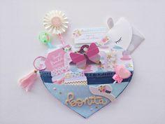 Jardinet de paper Scrapbooking: Enveloped Bag en forma de corazón