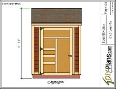 6x6 lean to shed plan.  Easy to build plans