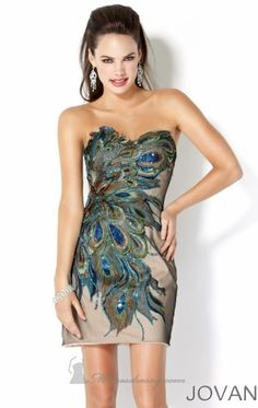 Love - Peacock cocktail dress!