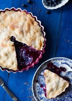 Blueberry & Lavender Pie Recipe
