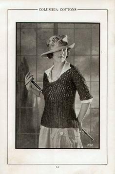 Vintage 1920s Downton Abbey Era Sweaters Knit Crochet by 2olddivas