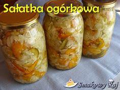 Smakowy Raj - blog kulinarny: Sałatka z ogórków (z papryką, marchewką i cebulą) Raj, Pickles, Cucumber, Blog, Blogging, Pickle, Zucchini, Pickling