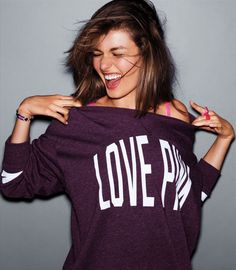 Love this shirt. Pink. VS. But really love this pic. #MyVSFallEdit