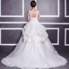 Imi LI Ya palace retro long tail wedding dress 2014 new winter big yards was thin free shipping 14093