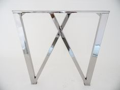 """Image of 28"""" W-Frame Table Bases, Wide Base,STAINLESS STEEL, Height 26"""" to 29"""" SET(2)"""