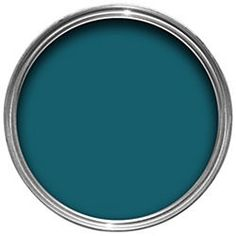 I've used Dulux Teal Tension as a feature wall in my hubby's office: it looks brilliant, and is neither too masculine nor too feminine, meaning I can use the space as well.