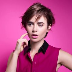 Lily Collins: Lancome Promo Shoot-50