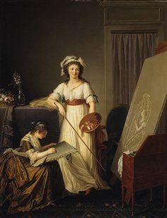 Interior of an Atelier of a Woman Painter.Atelier of an Artist or Atelier of a Painter, Probably Madame Vigée Le Brun and Her Pupil. Marie-Victoire Lemoine on canvas. Metropolitan Museum of Art. Art Gallery, Artist At Work, Painter, Metropolitan Museum Of Art, Female Art, Woman Painting, Portrait, Art History, Female Artists