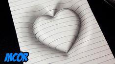 Cómo dibujar un corazón en con líneas - Trick Art for Kids - ¡Dibujo fácil! Cómo dibujar un corazón en con líneas – Trick Art for Kids Imágenes efe - Easy 3d Drawing, 3d Art Drawing, 3d Drawings, Drawing Skills, Drawing Tips, Pencil Drawings, Cool Easy Drawings, Paper Drawing, Drawing Projects