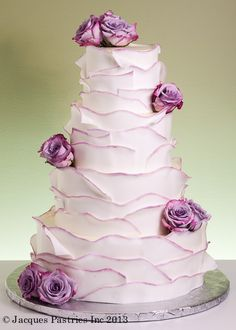 Showstopper Wedding Cakes - Ruffled Lavender Cake