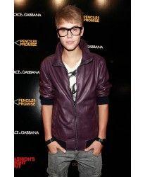 Famous Pop Singer justin bieber #Leather #Jacket