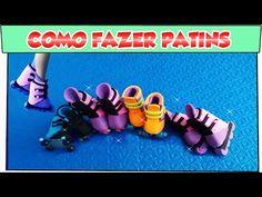 Como fazer: Patins para bonecas Barbie, Monster High entre outras! Passo a Passo - YouTube