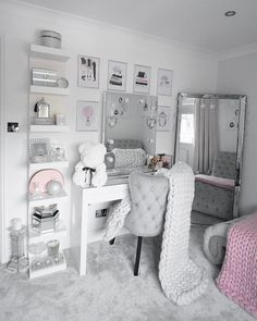 Home Decor Bedroom .Home Decor Bedroom Bedroom Decor For Teen Girls, Cute Bedroom Ideas, Girl Bedroom Designs, Room Ideas Bedroom, Teen Room Decor, Home Decor Bedroom, Interior Livingroom, Jugendschlafzimmer Designs, Makeup Room Decor