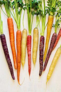 Cenouras de todas as cores