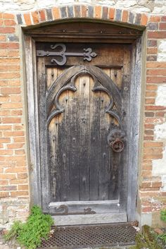 A door at Gilbert White's house in Hampshire.