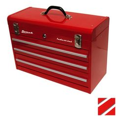 Homak�20.25-in Lockable Red Steel Tool Box