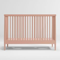 Our clean, timeless Hampshire Crib gets a color makeover in a dreamy, on-trend blush pink. With its classic spindle design and modern finish, this chic yet versatile look blends perfectly with a wide range of neutral tones, allowing you to create an elevated nursery. Solid poplar and rubberwood materials make it as durable as it is chic.   GREENGUARD Gold Certification      Product is GREENGUARD Gold Certified  Meets or exceeds applicable U.S. safety standards  Finish meets all children's… Neutral Tones, Crate And Barrel, Hampshire, Blush Pink, Crates, Toddler Bed, Nursery, It Is Finished, Chic