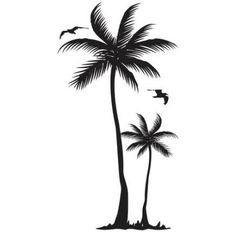 Palm Tree Tattoo - Picture IdeasYou can find Palm trees and more on our website. Mom Tattoos, Trendy Tattoos, Body Art Tattoos, Tattos, Ultra Fine Sharpie, Palm Tree Drawing, Geometric Tatto, Geniale Tattoos, Tree Silhouette