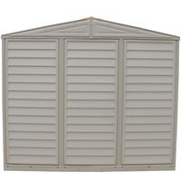 Duramax 8' x 8' DuraMate Vinyl Storage Shed with Foundation Kit