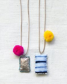 Etsy の Festival Necklace with Pom Pom by SeeRealFlowers