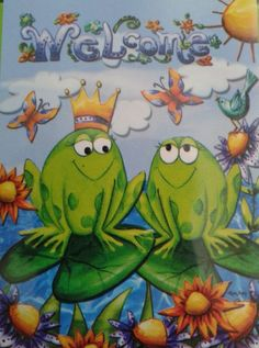 Small Garden Flip It Flag Rain Or Shine Welcome Frogs 12.5 in x 18 in Reversible #RainorShine