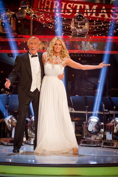 Strictly Come Dancing Christmas 2012-Tess Daly and Bruce Forsyth
