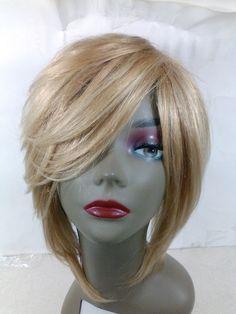 Yaki human Hair Handmade Wig layered bob ajustable cap sewing blonde pre pump #Bob