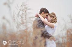 Snowy wedding day pic