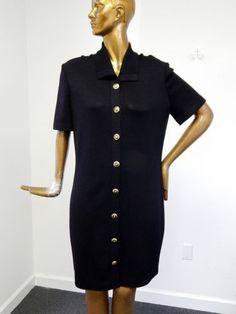 St-John-Basics-USA-Black-Santana-Knit-Button-Dress-12