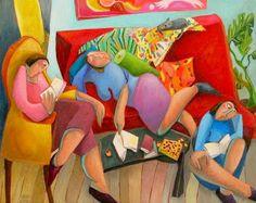 Lecture de filles by Sophie Fattal
