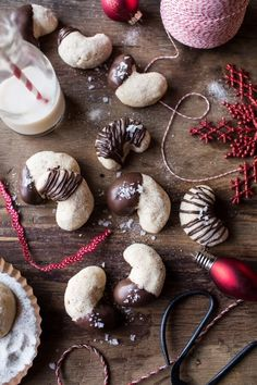 Chocolate Dipped Vanilla Bean Cashew Crescent Cookies | Community Post: 25 Delicious Christmas Cookies Santa's Guaranteed To Love