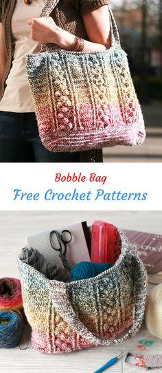 Bobble Bag Free Crochet Pattern #crochet #crafts #homemade #style #handmade