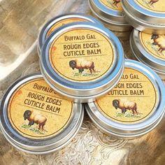 Cuticle & Rough Skin Healing Balm // Travel Size Tin // Argan Oil Shea Butter Balm Water Free Vegan Organic Healing