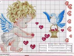Thrilling Designing Your Own Cross Stitch Embroidery Patterns Ideas. Exhilarating Designing Your Own Cross Stitch Embroidery Patterns Ideas. Cross Stitch Fairy, Cross Stitch Angels, Cross Stitch For Kids, Cross Stitch Heart, Cute Cross Stitch, Counted Cross Stitch Patterns, Cross Stitch Designs, Cross Stitch Embroidery, Stitch Book