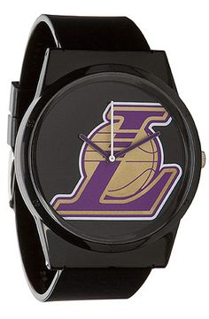 The LA Lakers Pantone Watch in Black by Flud Watches