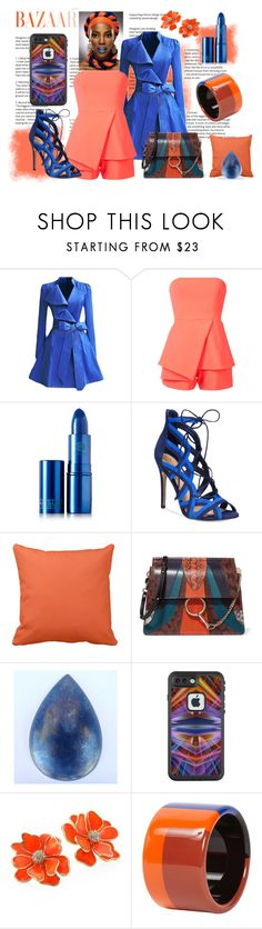 """Style It With Orange & Blue"" by personaleffects ❤ liked on Polyvore featuring WithChic, Jay Godfrey, Lipstick Queen, ALDO, Chloé, Lazuli, LifeProof, Kenneth Jay Lane, Hermès and fashionset"