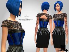 The Sims Resource: Dark Queen Dress by Miraminkova • Sims 4 Downloads
