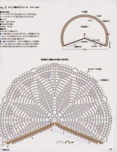 Crochet Knitting Handicraft: Delicate shawl