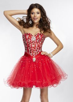 Beaded Corset Back 2014 Stiletto Strapless Ruffled Party Dress