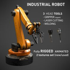 Mechanical Arm, Mechanical Design, Mechanical Engineering, Futuristic Technology, Futuristic Cars, Technology Design, Science Room, Robotic Automation, Industrial Robots