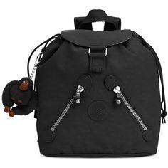 Kipling Fundamental Mini Backpack ($44) ❤ liked on Polyvore featuring bags, backpacks, black, colorful backpacks, monkey bag, multi color backpack, backpack bags and mini rucksack