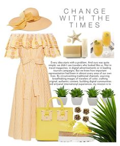 """""""Change Within Yellow"""" by essentiallyessence ❤ liked on Polyvore featuring Tiffany & Co., Gül Hürgel, Sensi Studio, Sophie Hulme and Miu Miu"""