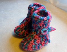 Baby Booties Multicolored  Free Shipping  130HT by Pepperbelle, $12.00
